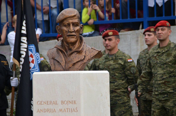 Otkriven spomenik generalu Matijašu